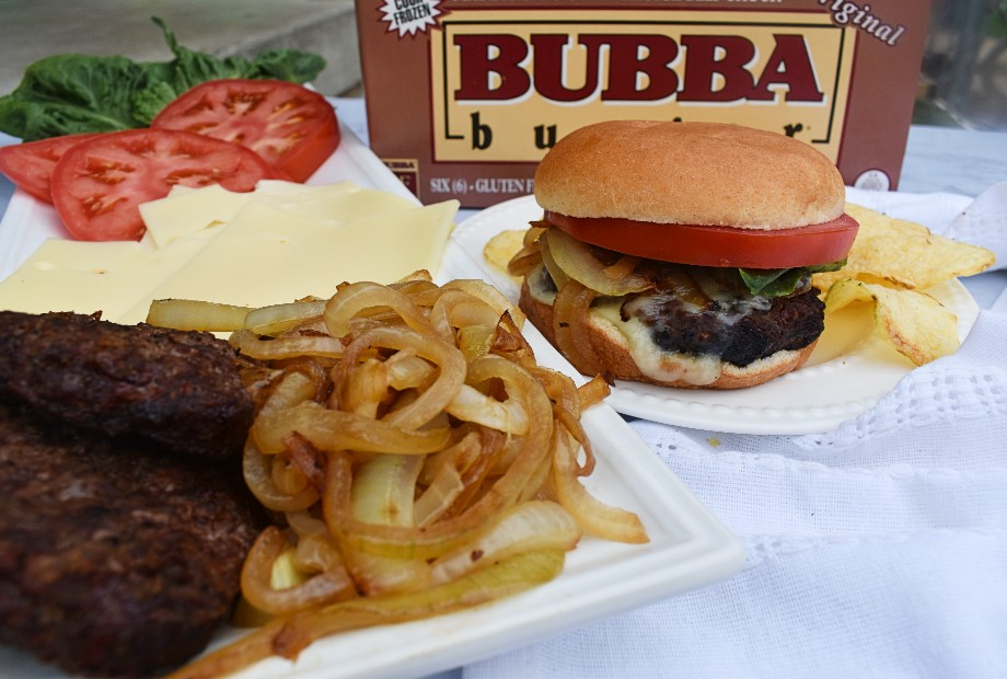 Caramelized Onion Cheeseburger