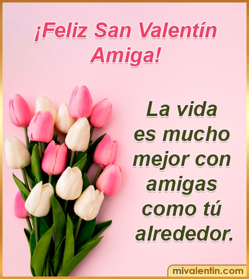 frases feliz san Valentín amiga