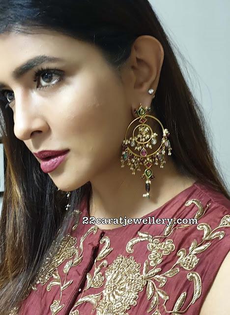 Lakshmi Prasanna in Coral Earrings Gallery
