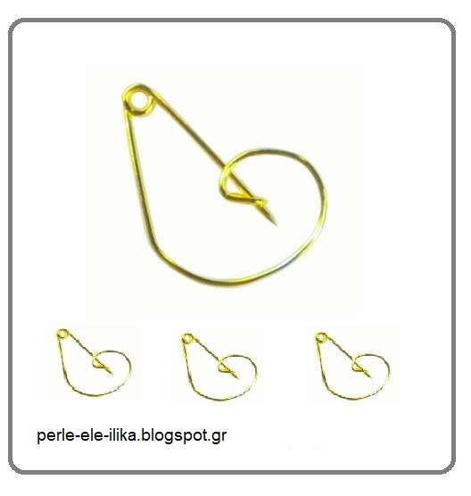 "4f0b902d6800 Μεταλλικό εξάρτημα παραμάνα ""κλειδί του σολ ""σε χρώμα χρυσό με διάσταση 3"