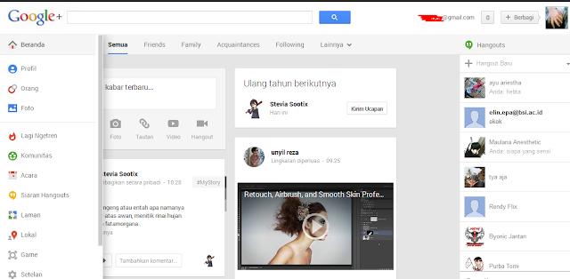 izor note's - Tampilan Baru Google Plus vs Facebook