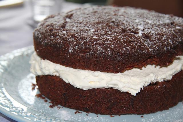 Homemade chocolate cake from the Cheapskates Club Cake Recipe File Click through for the recipe