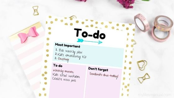 Mom's Daily Agenda Printables