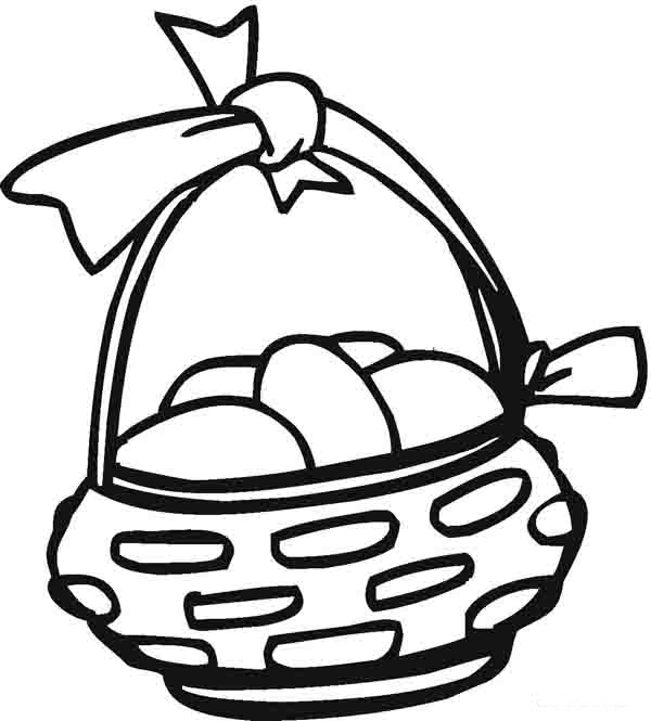 Easter Egg Basket Coloring Pages | Holiday Coloring Pages