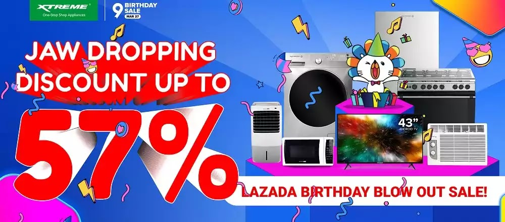 XTREME Appliances x Lazada 9th Birthday Blowout Sale
