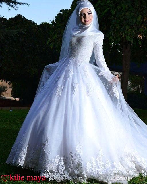Muslim Dresses With Sleeves And Hijab 2016
