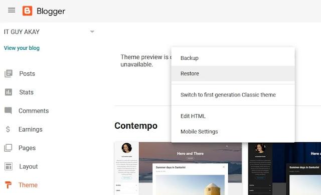 blogger template modify blogger blog