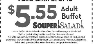 Souper Salad Printable Coupons November 2014