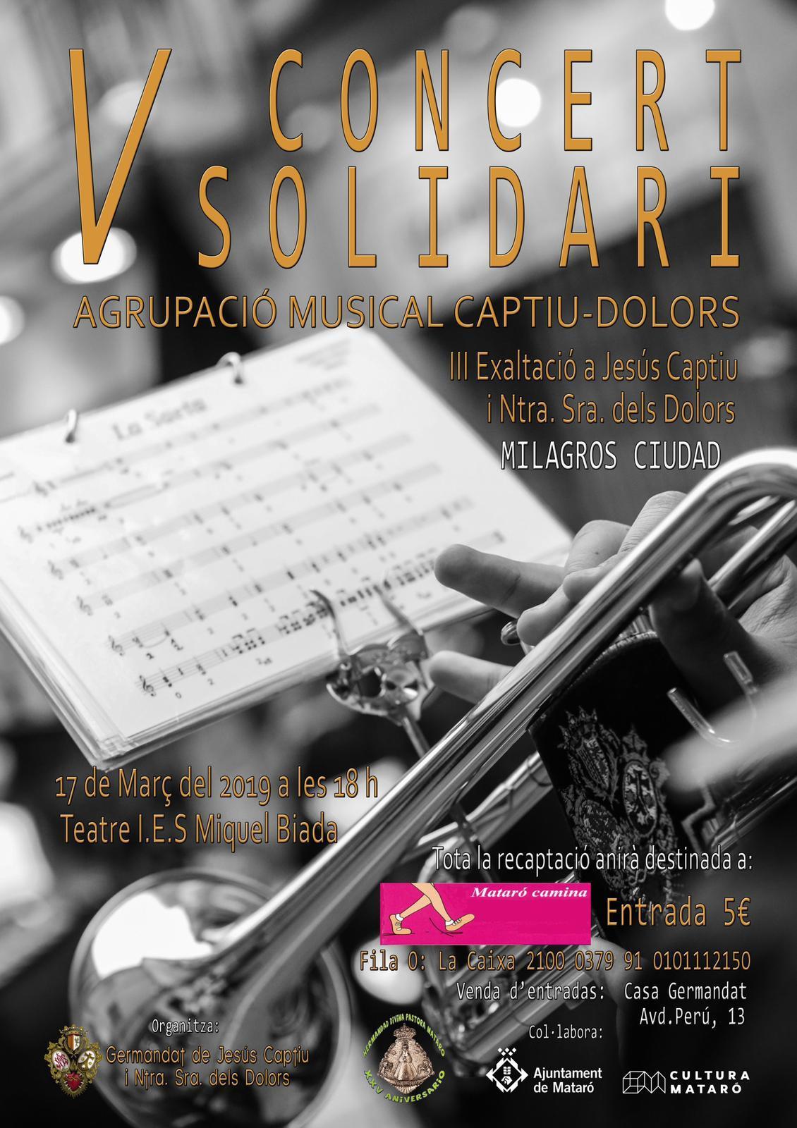 Marcador 5è. Concert Solidari