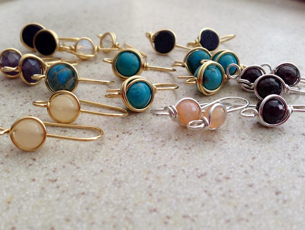 478756b56 Handmade Earwires with Gemstone Beads