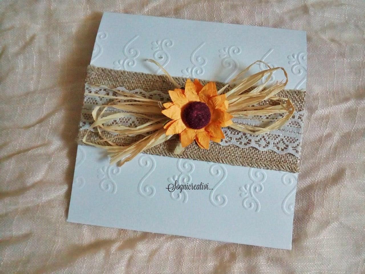 Partecipazioni Matrimonio Con Girasoli : Partecipazioni sognicreativi wedding and events: partecipazioni