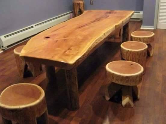 set meja makan antik terbaru