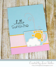 Hello Sunshine card-designed by Lori Tecler/Inking Aloud-stamps and dies from Paper Smooches