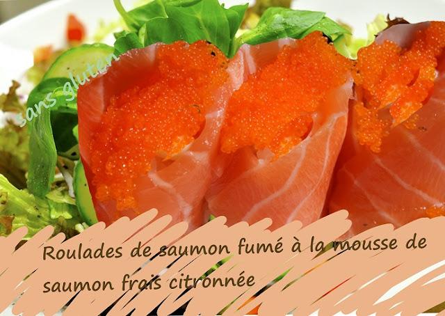 entrée de fête sans gluten au saumon