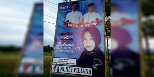 Tak Pakai Foto SBY dan Prabowo, Caleg Demokrat di Ponorogo Malah Pasang Gambar Jokowi