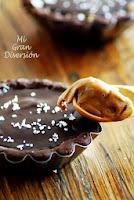 Tartaletas de crema speculoos y chocolate