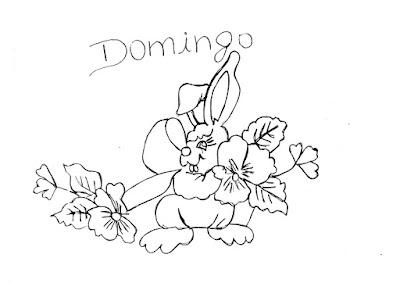 semaninha de coelhos e flores domingo