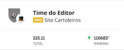 Time do Editor #4 - Cartola FC 2020