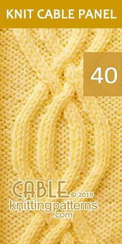 Knit Cable Panel Pattern 40, its FREE