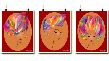 Nuevas impresiones: Colorful afro hair girls