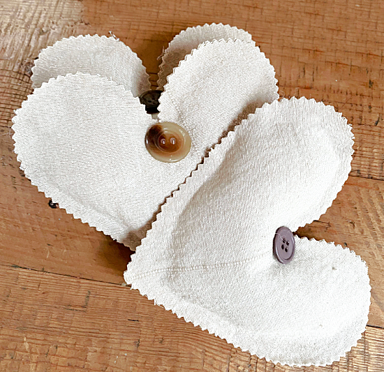 Heart Sachets for Valentine's Day