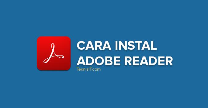 Cara instal Adobe Reader