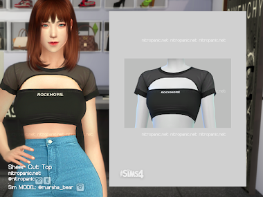 Sheer Cut Top for The Sims 4