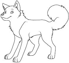 Adorable Siberian Husky Dog Coloring Sheet