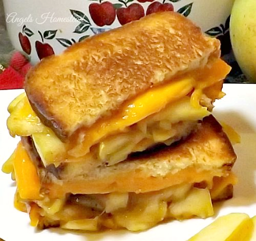 Veggies First Then Dessert - Apple Pie Grilled Cheese