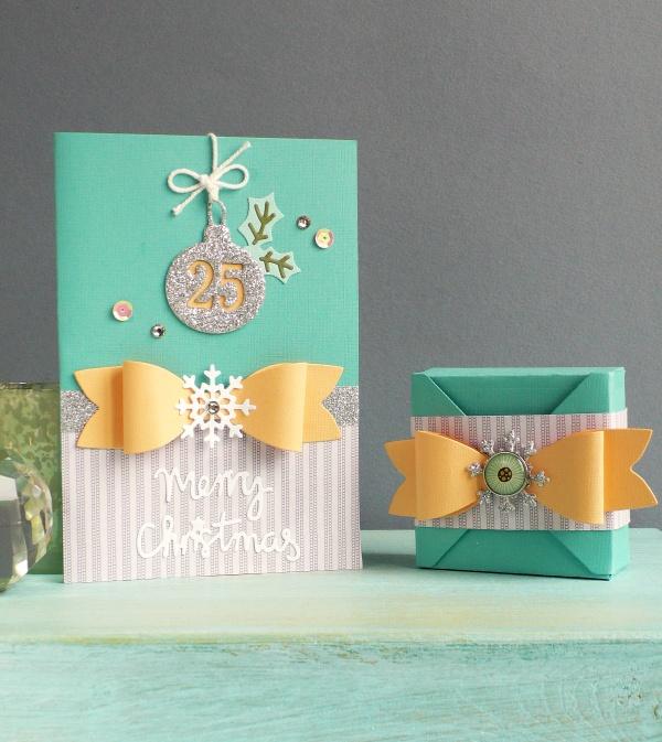 Idee fai da te Natale: Card e scatolina coordinata