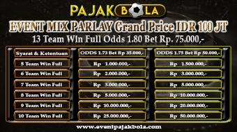 Event PajakBola - Grand Price IDR 100 Juta
