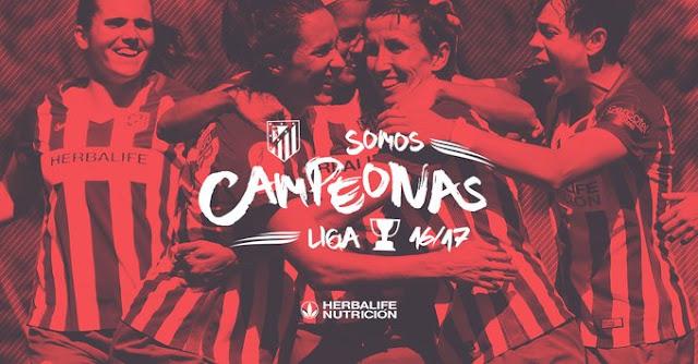 Atlético de Madrid é campeão do Campeonato espanhol feminino