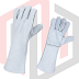 MH White Cow split Leather Heat Resistant Welding Gloves