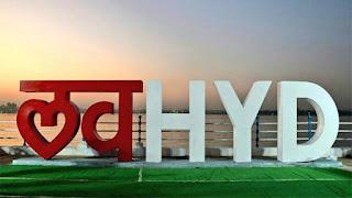 Love Hyderabad Sculpture