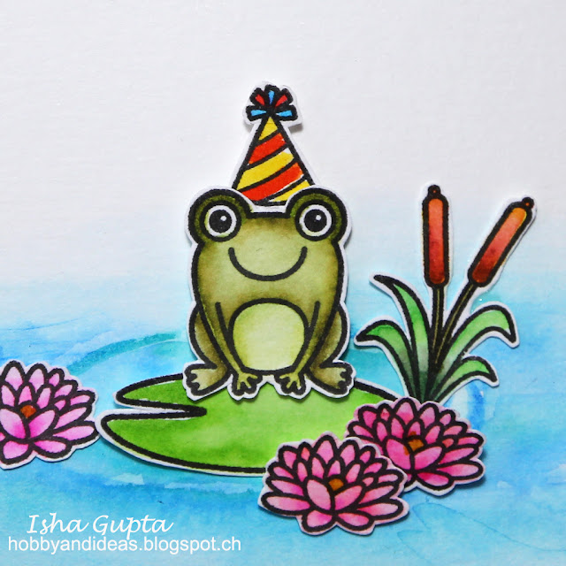 Sunny Studio Stamps: Froggy Friends and Timeless Tulips Cards by Isha Gupta