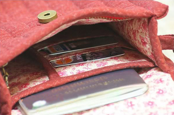 Patchwork and Quilted  Purse zipper DIY. Tutorial with Photos.