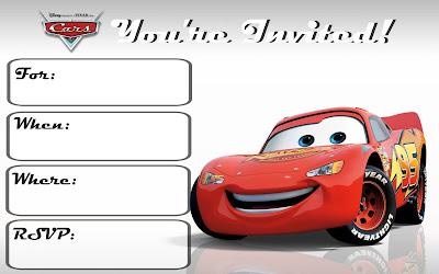 cars 3 invitations