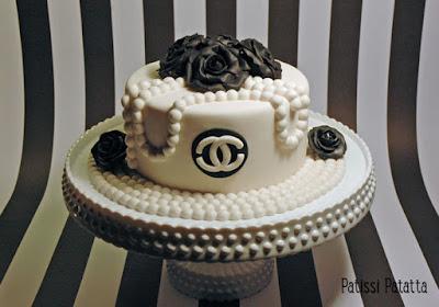gâteau Channel factice, cake design, gumpaste, pâte à sucre, haute couture cake, Channel cake, patissi-patatta