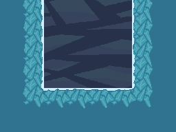 A mockup of what that ice-wall tile would look like in a level.