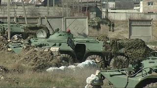 База морпехов в Феодосии - под контролем российских военных
