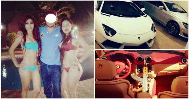 Viejas, autos ,alcohol y armas nadie festeja como el Ivan Archivaldo Guzmán el hijo de El Chapo Guzmán