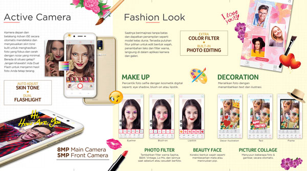 Edit Foto Advan I5E Glassy Gold 2