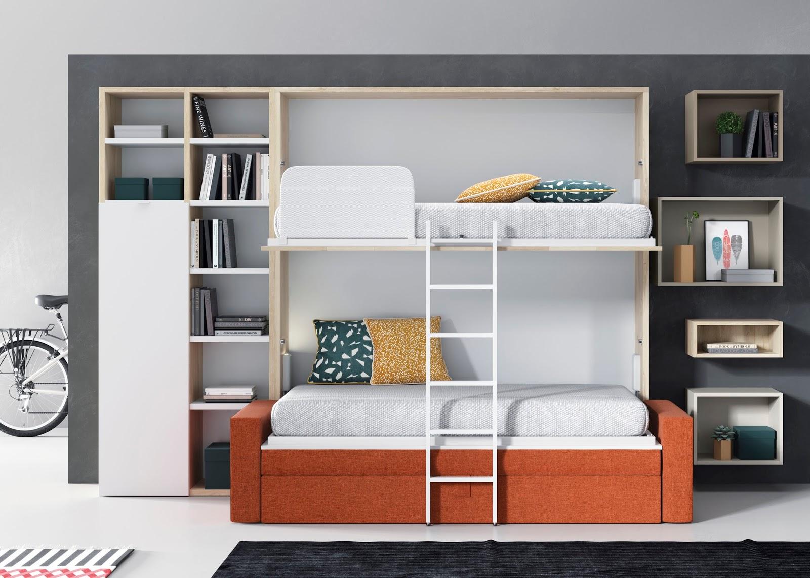 Literas abatibles con sof incorporado - Literas precios modelos ...