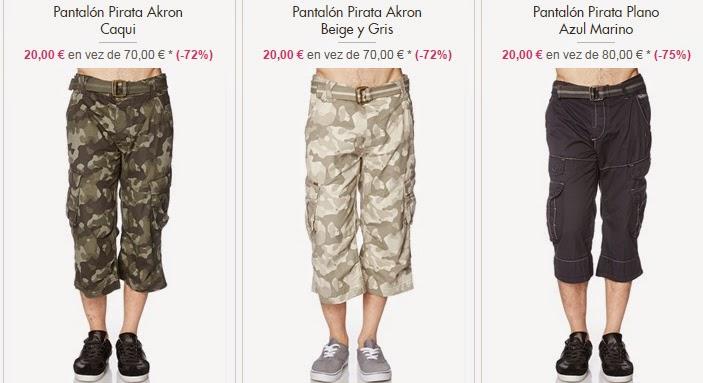 Pantalones pirata en oferta