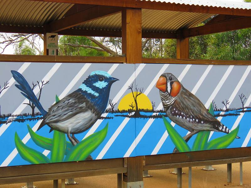 Art in the landscape at Winton Wetlands