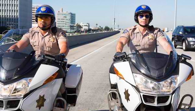 CHiPs Movie Still Michael Pena and Dax Shepard