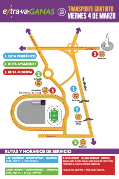 Transporte gratis en Guadalajara