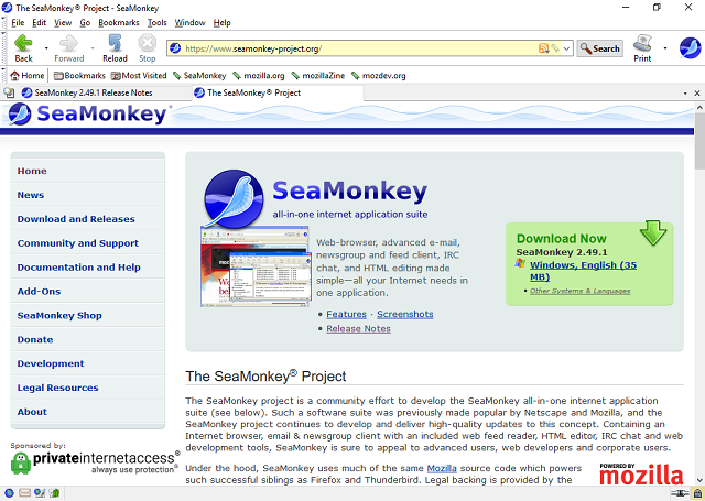 تحميل متصفح الأنترنت الرائع والمتميز SeaMonkey 2.49.1 آخر إصدار
