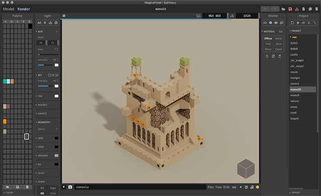 MagicaVoxel Render Engine