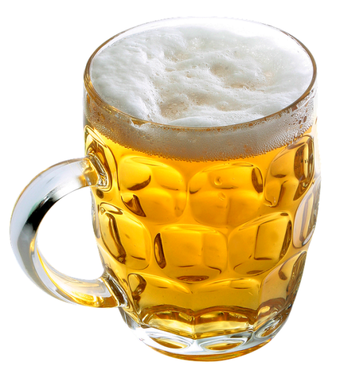 Caneca de cerveja. #PraCegoVer